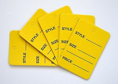 1000 Yellow Merchandise Price Jewelry Garment Store Paper Small Tags 4.5x2.5cm