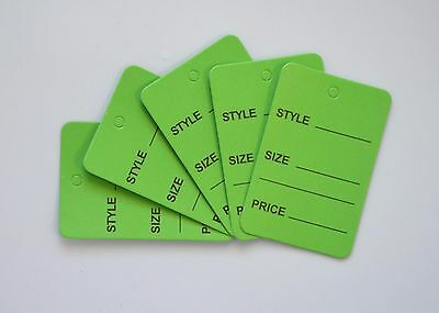 1000 Green Merchandise Price Jewelry Garment Store Paper Small Tags 4.5x2.5cm