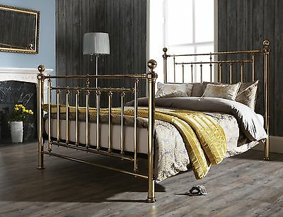 Edward Metal Bed Frame in Brass or Nickel King or Super King