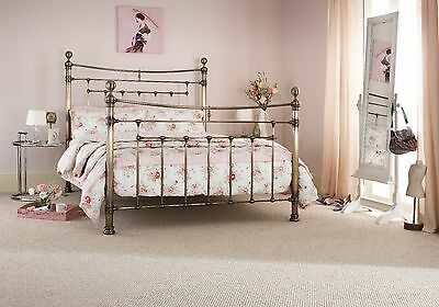 Arthur Quality Metal Bed Frame in Antique Brass Double, King or Super King