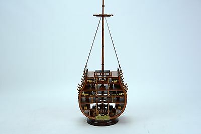 HMS VICTORY Cross Section Handmade Wooden Ship Model 20""