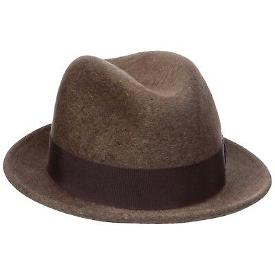 373ecbabe01c2 Bailey Riff Men s 100% Wool Center Dent Crown Fedora Hat Mink Made In USA