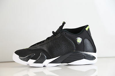 Nike Air Jordan 14 Retro indiglo Og Gs SZ 5Y Black Vivid Green 487524-005