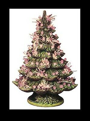 Ceramic Bisque Christmas Tree with Base, U Paint