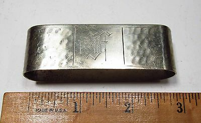 Antique 1920s Apollo Bernard Rice's Sons EPNS Hammered Nickel Silver Napkin Ring