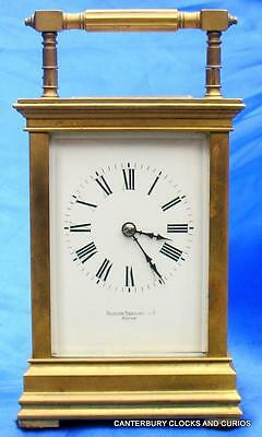 Antique French Imerial Triple Corniche Striking 8 Day Carriage Clock Serviced