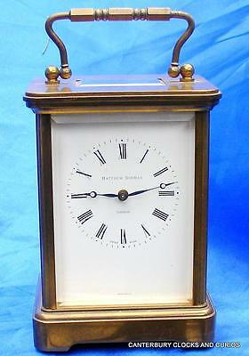 Vintage Swiss 8 Day Matthew Norman Grande Corniche Carriage Clock Serviced