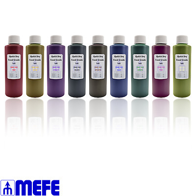 Edible Food Grade Ink, 250ml Stamp, Spray, Paint, Airbrush, Paint, Dye, Stencil