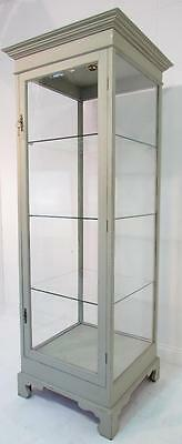 Tall Antique Style  Glazed Freestanding Hand Painted  Shop Display Cabinet