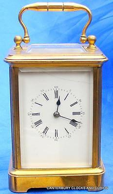 Art-Deco French Grande Corniche 8 Day Timepiece Boudoir Carriage Clock