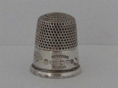 SOLID SILVER THIMBLE Chester 1924