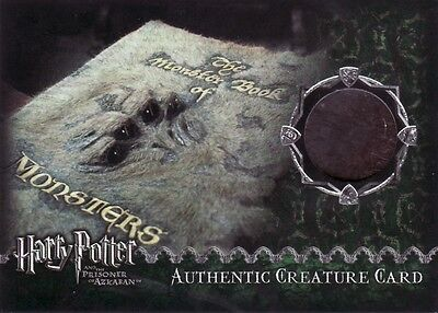 Harry Potter Prisoner of Azkaban Update Monster Book of Monsters Prop Card