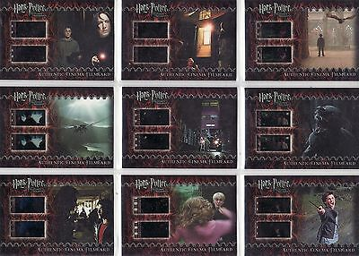 Harry Potter Prisoner of Azkaban Update Complete 9 Card Film Cell Set