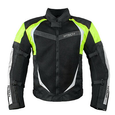 MTECH Motorbike Summer Textile Jacket with CR Approved armours Water Proof