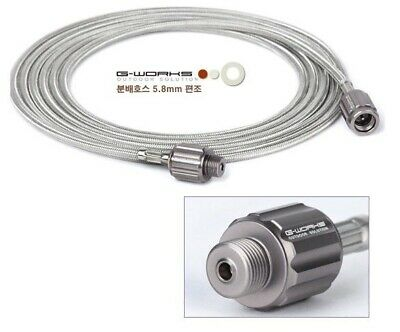 G-WORKS Gas Distribution Hose -Stainless Steel Wire Braid(Screw type for Butane)