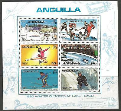 Anguilla Sgms395 1980 Winter Olympic Games Mnh