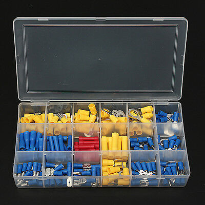 180Pcs Cold-pressed Insulated Electrical Wire Cable Terminals Connector Kit