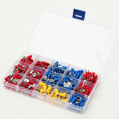 280Pcs Assorted Electrical Ring Spade Terminal Wire Connector Box Kit Set