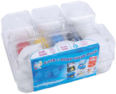 Plaster Playset Cats & Dogs YPI50048