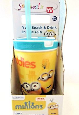 Snackeez Jr Minions Buddies 2 in 1 Snack And Drink Cup Zak BPA Free