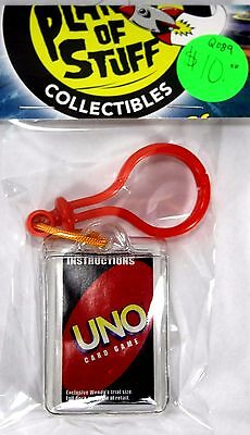 Uno Mini Card Game on Keychain Trial Size Deck From Wendy's Restaurant