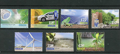 Curacao 2013 MNH Go Green 7v Set Environment Solar Energy Recycling Stamps