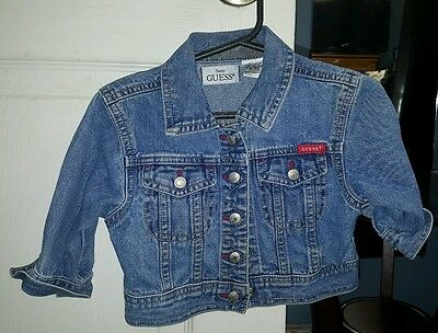 8482bc87c NWOT BABY GUESS Blue Long Sleeve Jean Jacket Boys or Girls Toddler ...