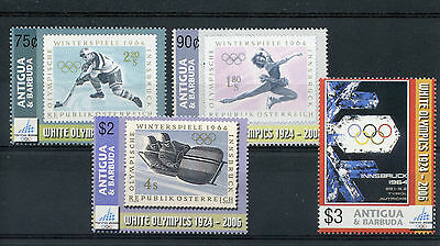 Antigua & Barbuda 2006 MNH Winter Olympics Torino 4v Set Ice Hockey Stamps