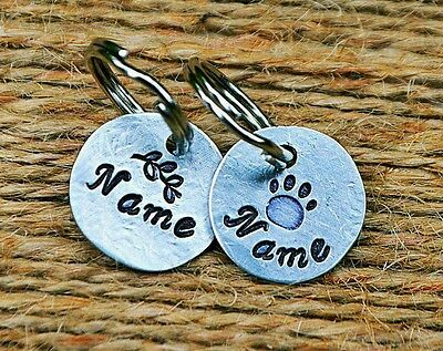 Small Dog Tag Cat ID Tags Dog Tags Pet ID Tags -personalized handmade