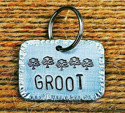 Large Dog Tags Dog Tags Cat ID Tags -personalized handmade Custom Pet Tags Groot