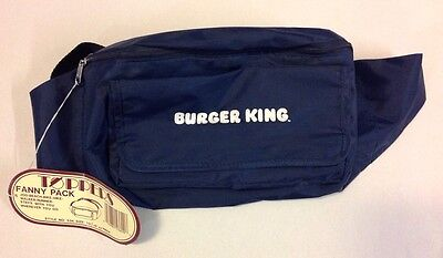 Vintage Burger King Fanny Pack Tote Fast Food Collectible Blue Bag