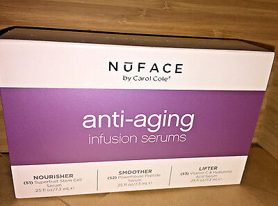 NuFACE  Anti-Aging Infusion Serum Trio Pack   NEW~FREE SHIP