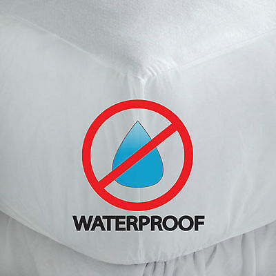 Mattress Protector Sheet Wet Matress Cover Waterproof Terry Towelling Cotton Lot