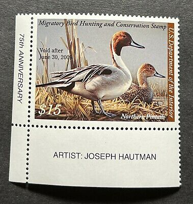 WTDstamps - #RW75 2008 Plate#- US Federal Duck Stamp - Mint OG NH