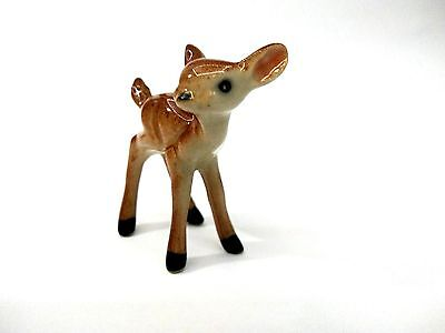 Animal Deer Ceramic Small Figurines Miniature Statue Decor Home Collec Gift