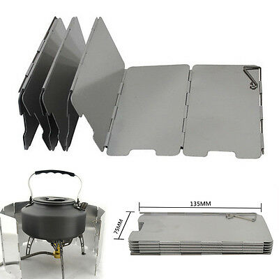 Foldable 9 Plates Burner Windshield for Outdoor Camping BBQ Cooking Picnic Stove