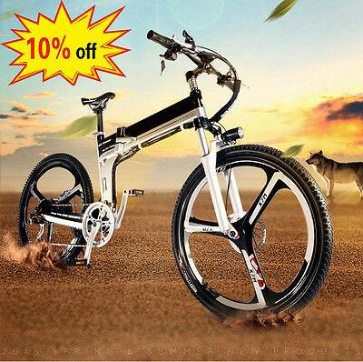 Bicycle 48V Electric Snow Bike Mountain Bike for man & woman,7 speed,10% off