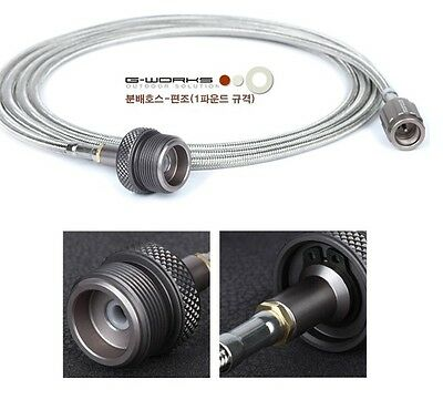G-WORKS Gas Distribution Hose -Stainless Steel Wire Braid (of 1lb. Outlet)