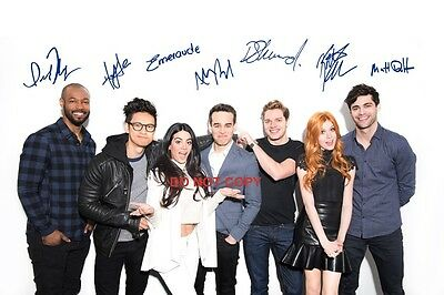 Shadowhunters Cast Reprint Signed 12x18 poster photo ALL 7 #2 Mortal Instruments