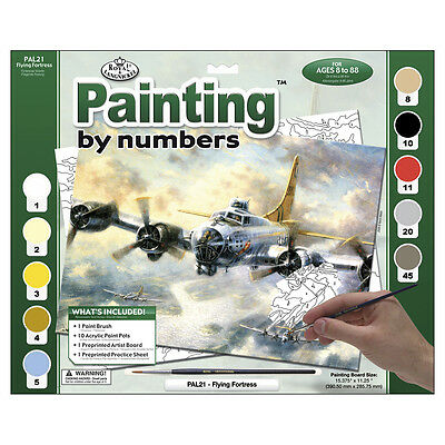 "Paint By Number Kit 15.375""X11.25"" Flying Fortress PAL-21"