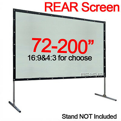 100-200 Inch Behind Back Rear Project Screen for Home Theater/Outdoor Projectors
