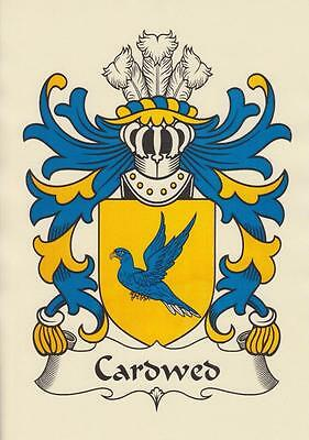 Welsh Heraldic Coat Of Arms A4 Parchment Paper Print For Your Name.