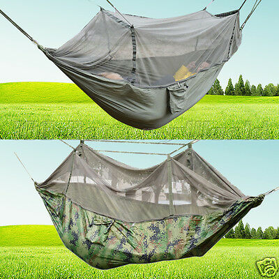 Portable Travel Jungle Camping Outdoor Hammock Hanging Nylon Bed Mosquito Net