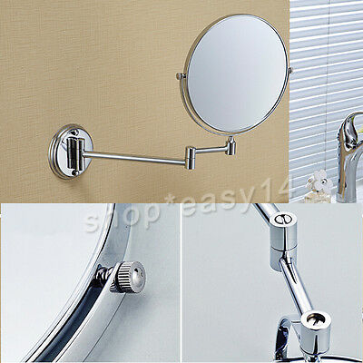 """8"""" 7x Magnification Dual Side Bathroom Makeup Shaving Cosmetic Mirror Wall Mount"""
