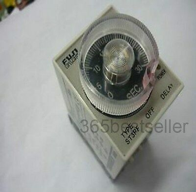 110V AC Power Off Delay Timer Time Relay 0-10 Second 10S ST3PF & Base