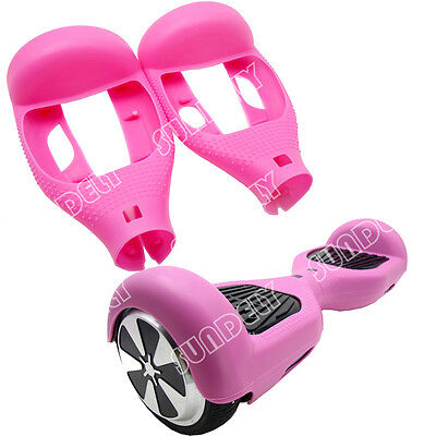 """Pink Silicone Protective Case Cover For 6.5"""" Self Balancing Scooter Hoverboard"""