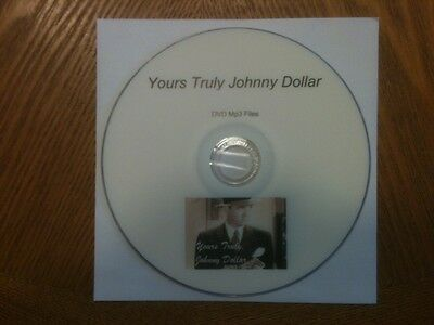 OTR Yours Truly, Johnny Dollar Shows 190 Episodes in MP3 DVD + Free Sampler CD