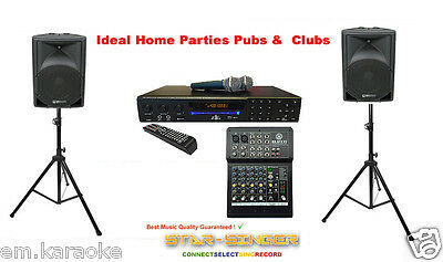 Professional Karaoke Machine with Speakers and Proper Audio Mixer