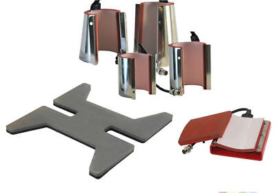 Microtec DCH-500 Various Attachments for Heat Press Transfer - Shoe, Flask, Mug