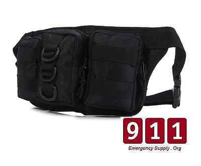 Military Swat Medic Tactical First Aid Trauma Hip Fanny Pack Black Bag IFAK EMS
